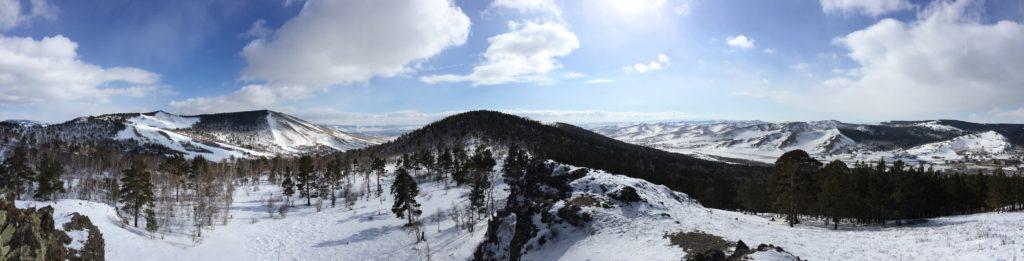 Mongolian winter vista