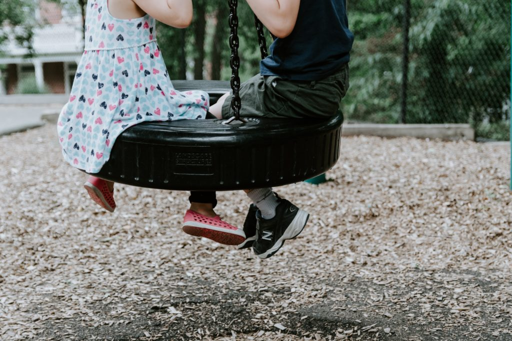 Playgrounds are not relaxing with a toddler